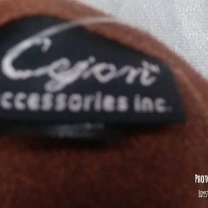 Cejon Accessories - Nwt Suede Brown Cejon Embroider Wrap/Shawl